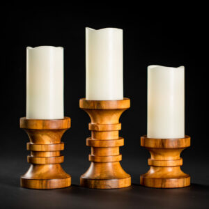 Douglas Heck - Woodturner - Candle Stick Holders Handmade in the USA