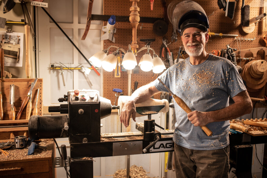 Doug at the Lathe